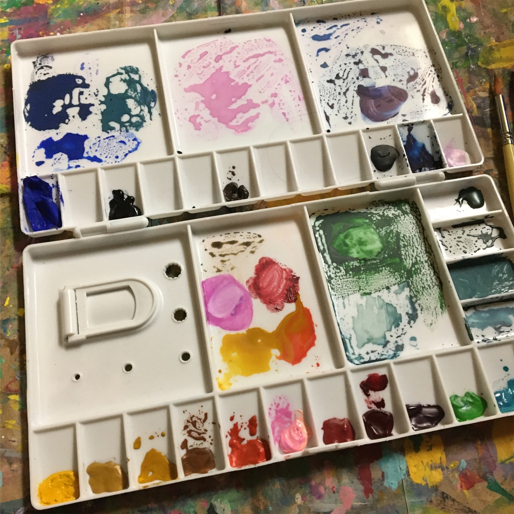 a self made watercolor palette