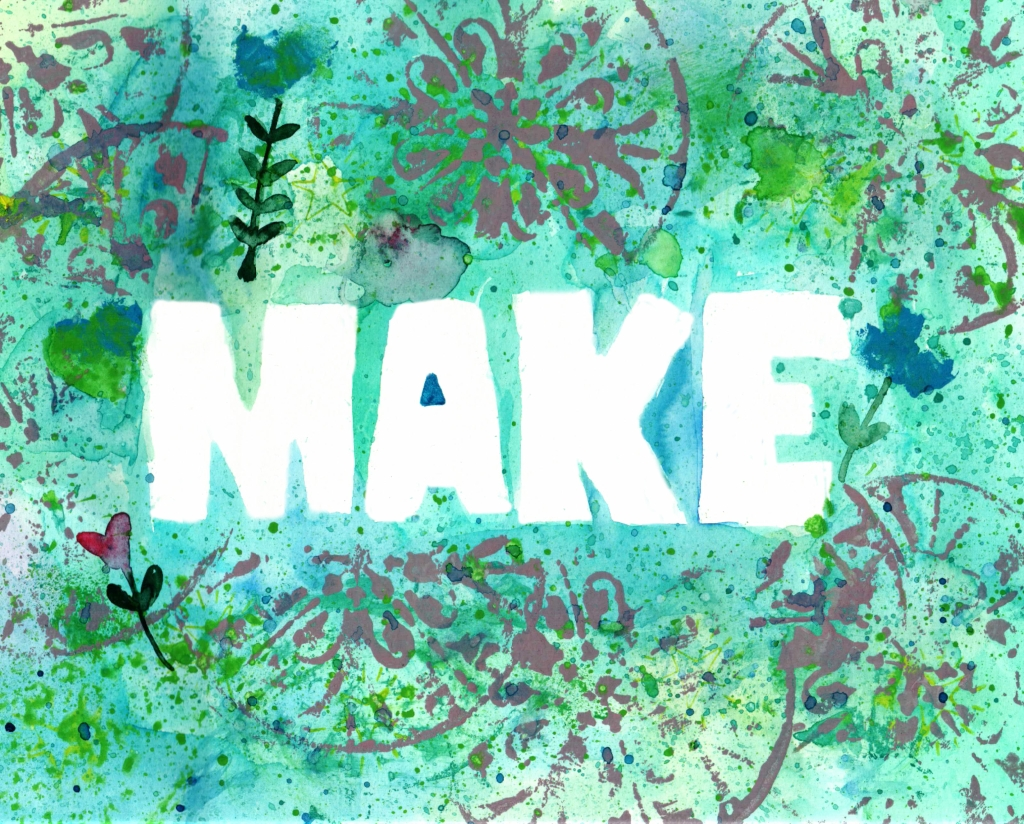 word art with watercolor