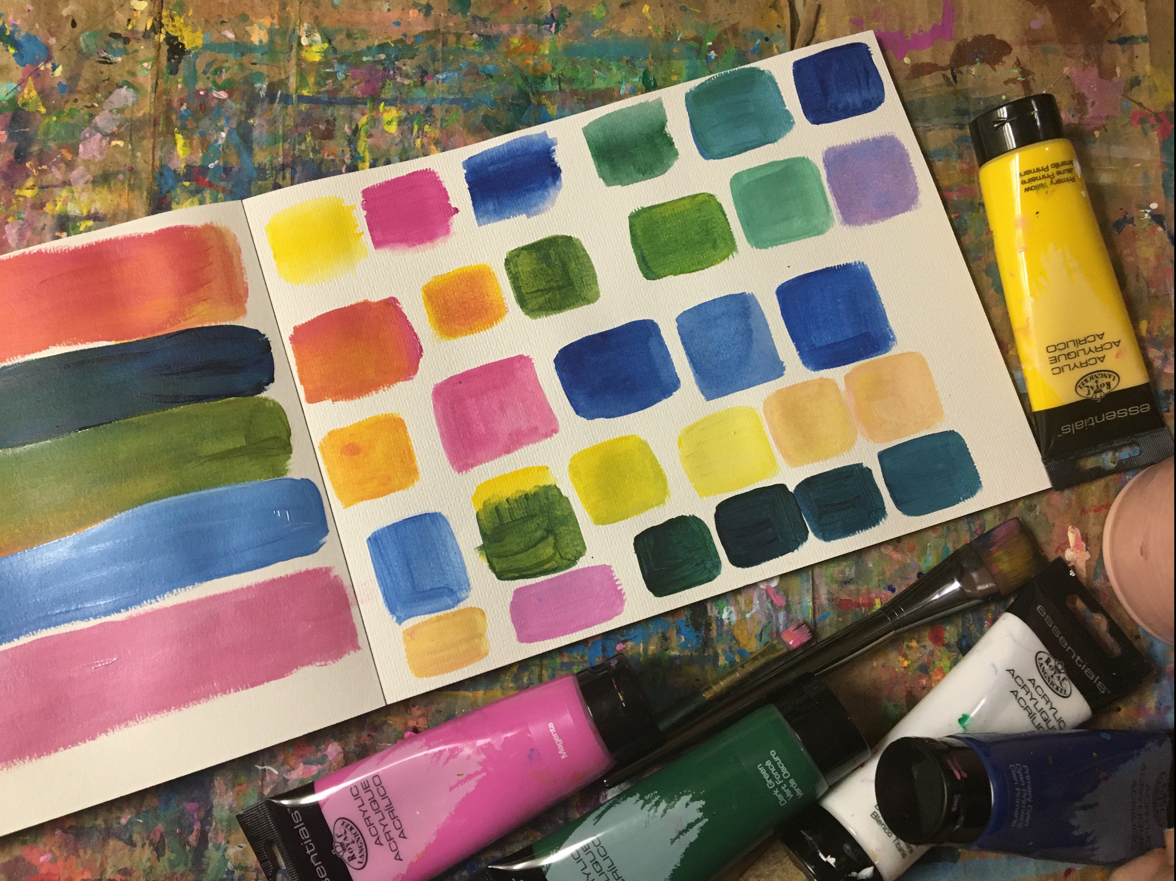 learn how to mix color with acrylic paints