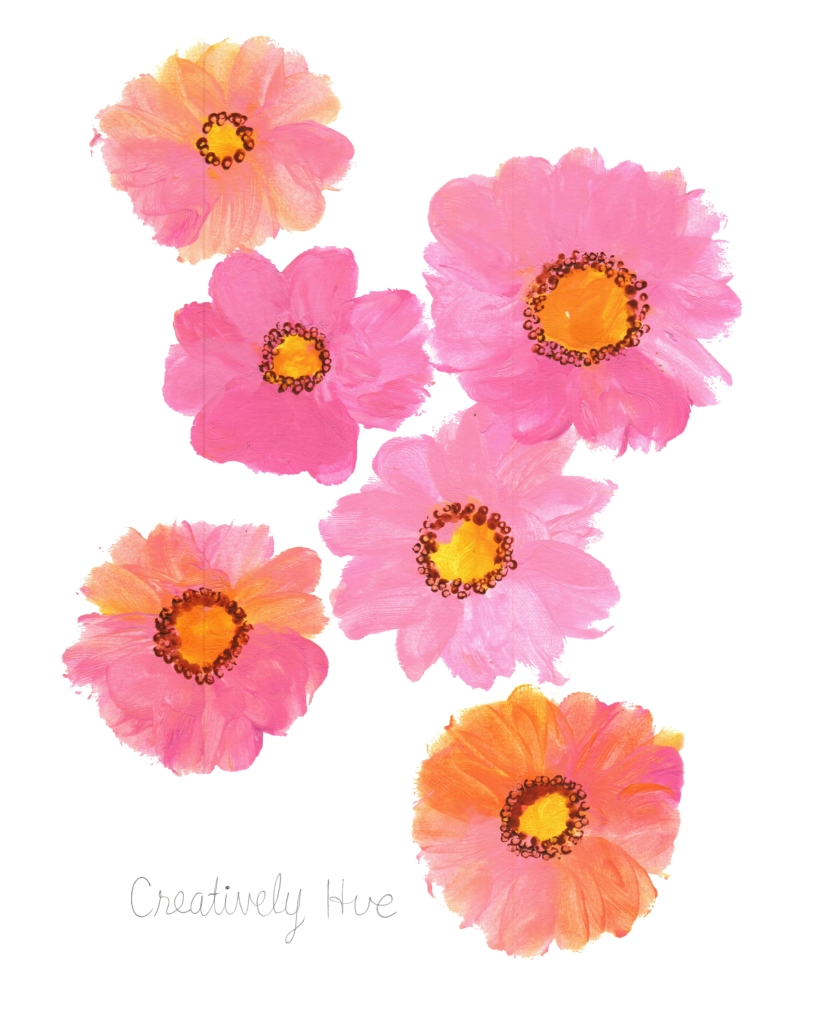Six pink acrylic blooms to encourage joy, peace and love