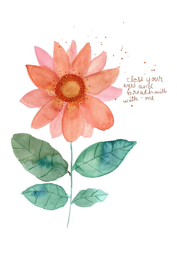 peach bloom with a quote